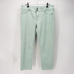 Elle Paris | Straight Leg Jeans | Pale Green